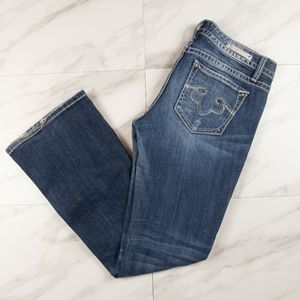 Rerock For Express Boot Cut Jeans 4S Embroidered